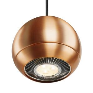 Suspension boule design Light Eye cuivre brossé Ø 14.5 cm
