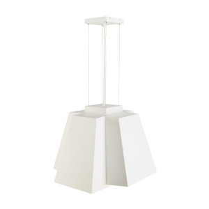 Suspension carrée design Soberbia LED 3000K - Blanc