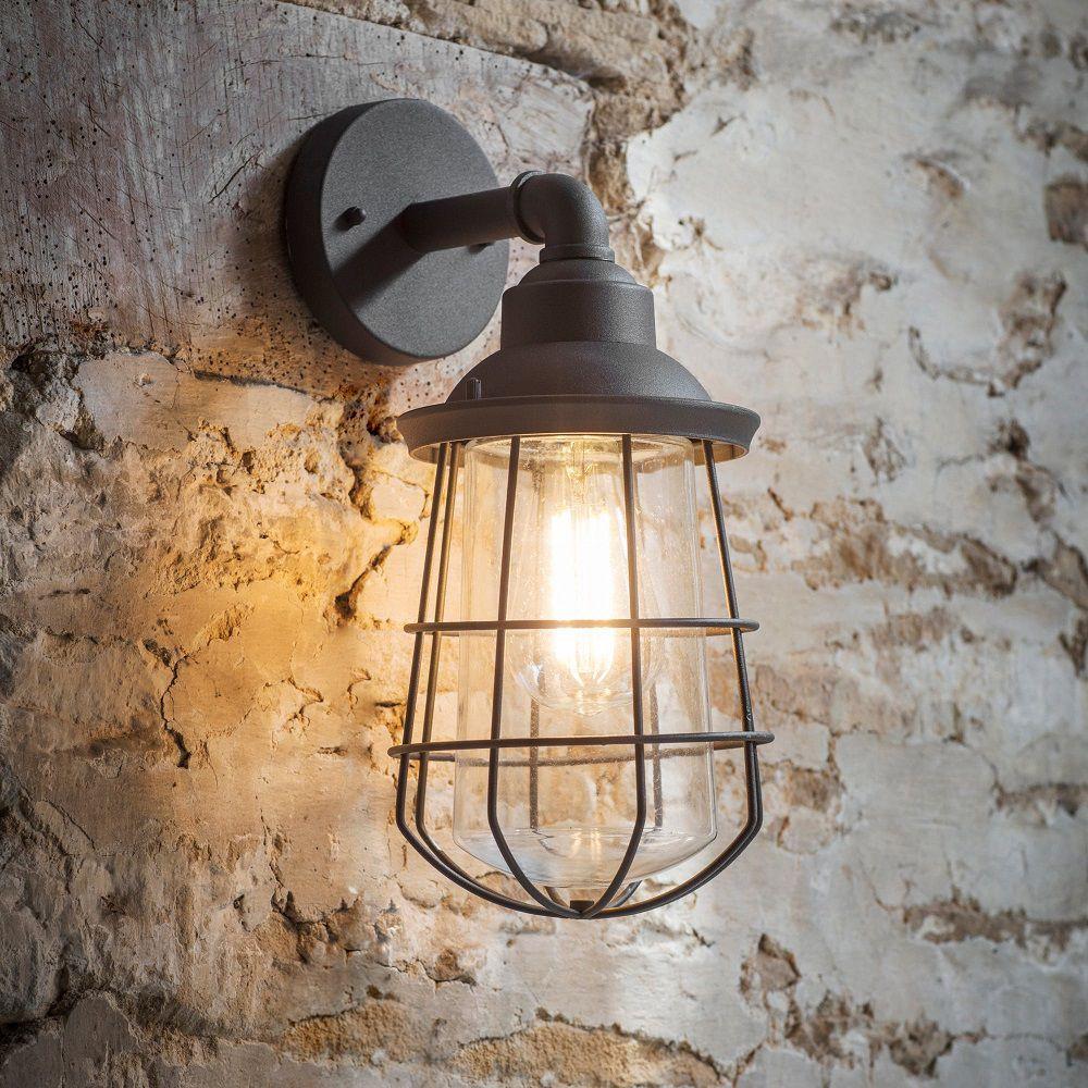 Luminaire Salle De Bain Style Industriel applique murale industrielle ip44 pour l'extérieur ou la