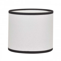 Abat-jour cylindre blanc bordé de noir