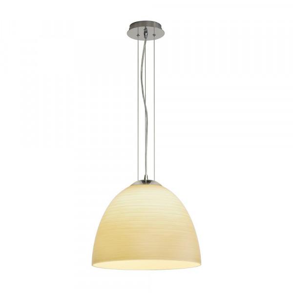 Suspension conique en verre beige Orion Cone Ø 38.5cm