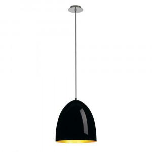 Suspension ronde noir/doré Para Cone Ø 30 cm