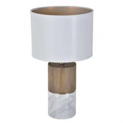 lampe bois et marbre