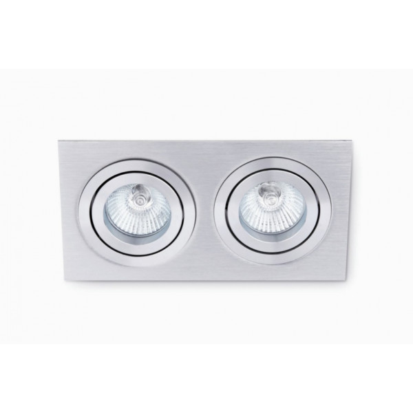 Spot encastrable design double gris
