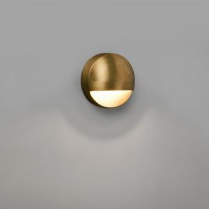 Applique ronde LED extérieur en laiton Drak