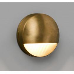 Applique bord de mer ronde LED extérieure en laiton