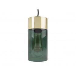 Suspension design métal et verre vert Lax