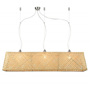 Suspension en bambou tressé naturel L 130cm