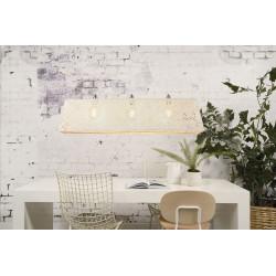 Lampe design bambou blanc