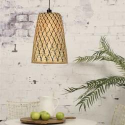 Suspension lampe bambou