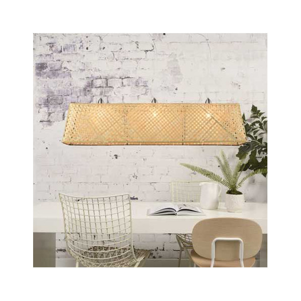 Suspension bambou naturel