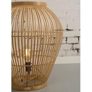 Lampe à poser en bambou style bohème
