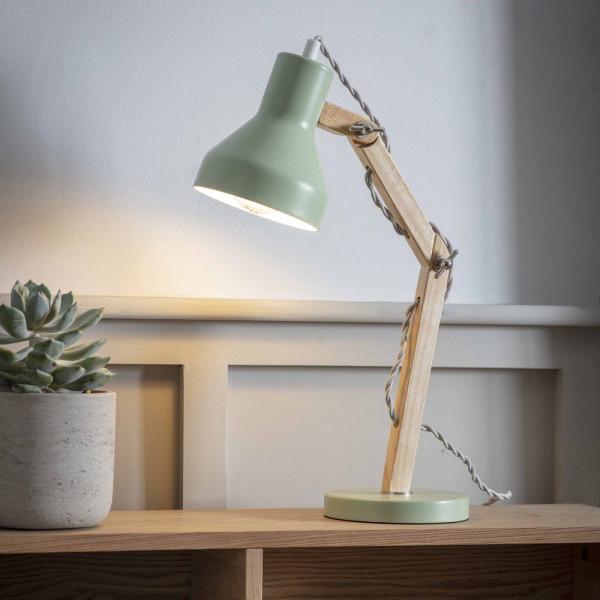 Lampe de bureau articulée vert sauge