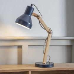 Lampe de bureau articulée bleu encre