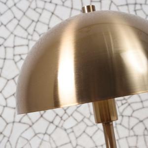 Lampe de salon en métal doré