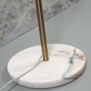 Lampadaire métal et marbre