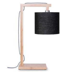 Lampe à poser bambou et lin H47cm