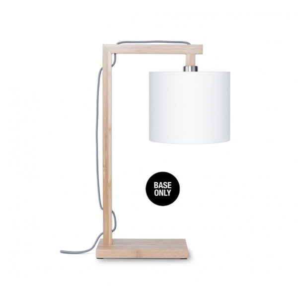 Base de lampe de table en bambou