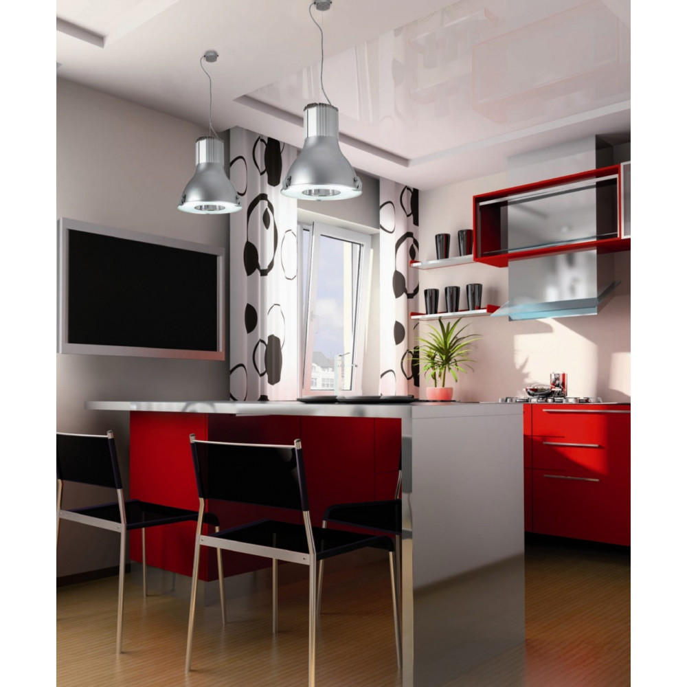 suspension cuisine type industriel en aluminium lampe avenue. Black Bedroom Furniture Sets. Home Design Ideas