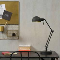 Lampe de bureau articulée design en fer noir