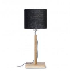 Lampe de bureau abat-jour lin noir