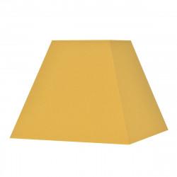 Abat-jour carré pyramide jaune moutarde