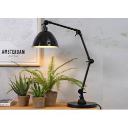 Lampe de bureau en fer noir avec bras articulée et orientable