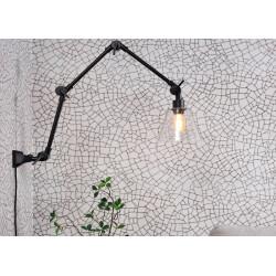 Applique murale orientable avec abat-jour en verre