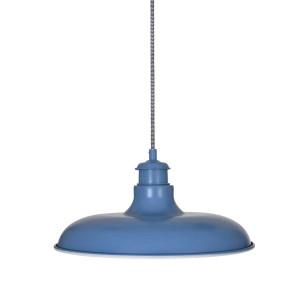 Suspension métal bleu ciel diamètre 36cm