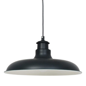 Suspension loft noire diamètre 36cm