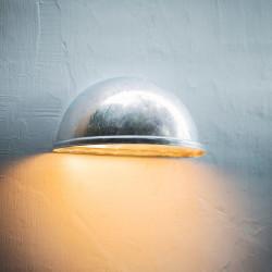 Applique murale d'extérieur demi-lune acier galva - IP44