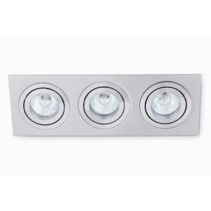 Spot encastrable design triple gris