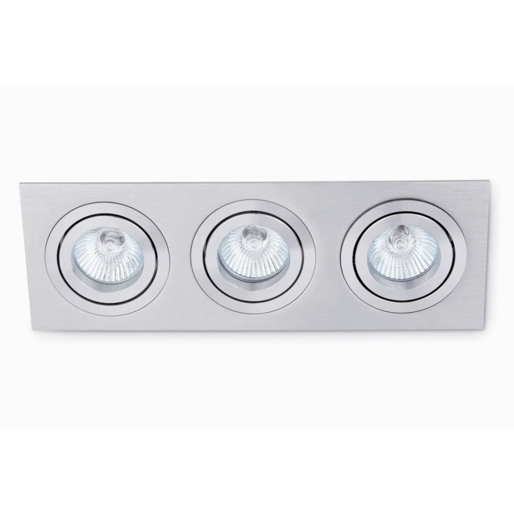 Spot gris encastrable triple luminaire design sur lampe for Spot exterieur encastrable plafond