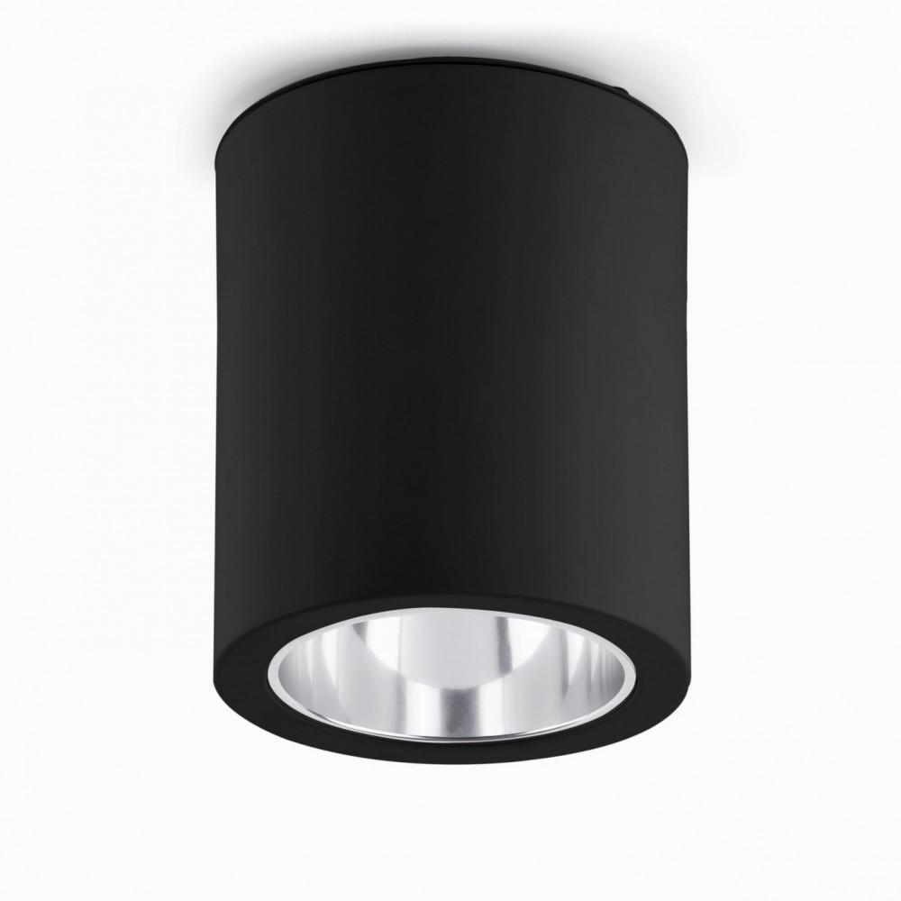 Plafonnier design noir en aluminium acheter sur lampe avenue for Spot exterieur encastrable plafond