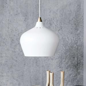 Suspension design blanche et dorée