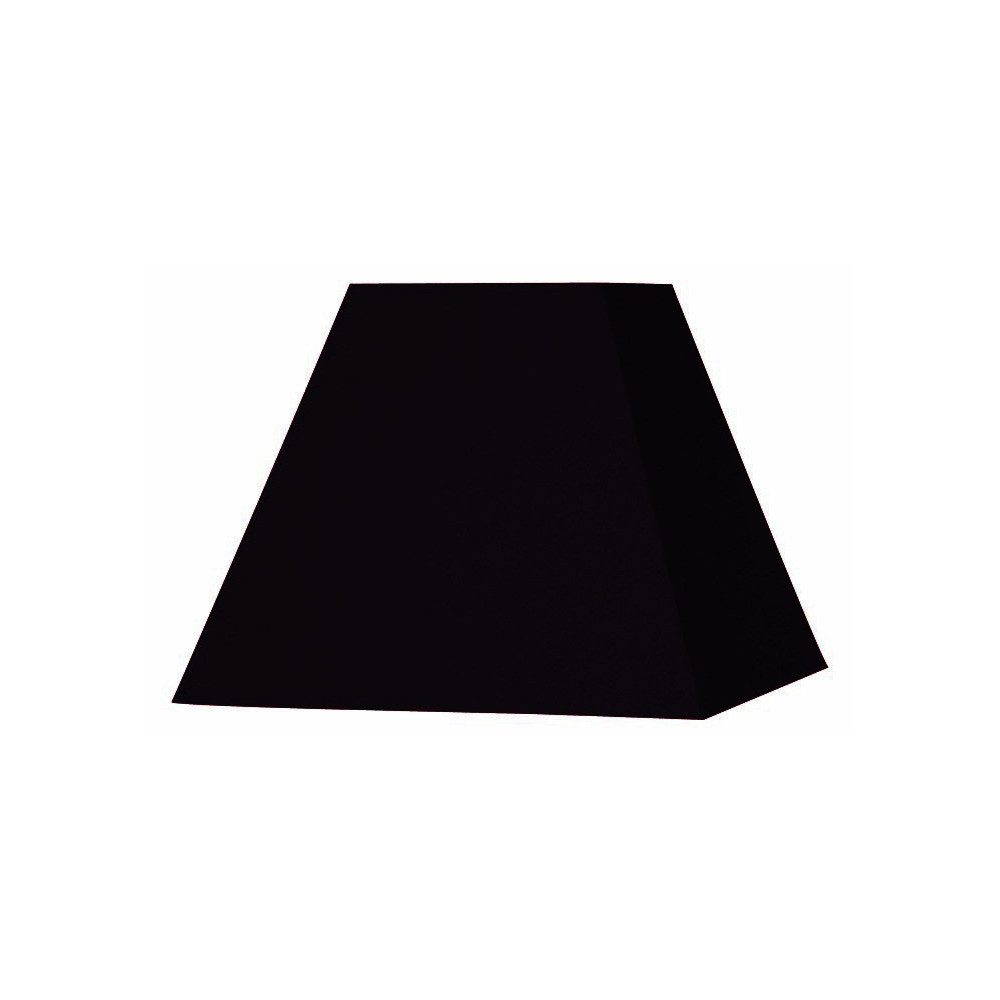 abat jour carr pyramide noir abat jour coton sur lampe avenue. Black Bedroom Furniture Sets. Home Design Ideas