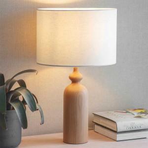Lampe en bois tourné