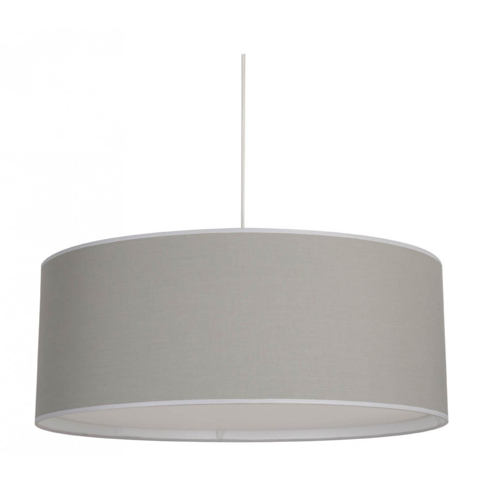 Grande suspension grise avec diffuseur vente sur lampe avenue for Grande suspension luminaire