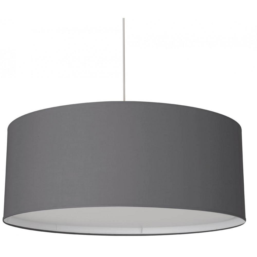 Grande suspension gris fonc avec diffuseur sur lampe avenue for Suspension de salon