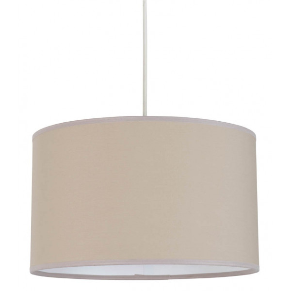 Suspension cylindrique couleur beige