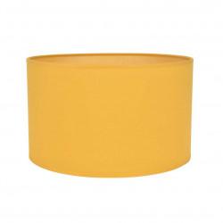 Abat-jour cylindre jaune moutarde