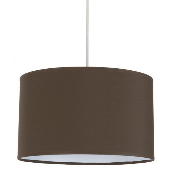 Suspension cylindrique abat jour marron chocolat sur lampe avenue - Abat jour pour lampe de chevet ...