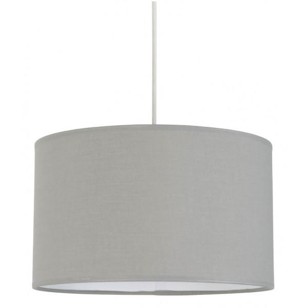 suspension abat jour gris clair en coton sur lampe avenue. Black Bedroom Furniture Sets. Home Design Ideas