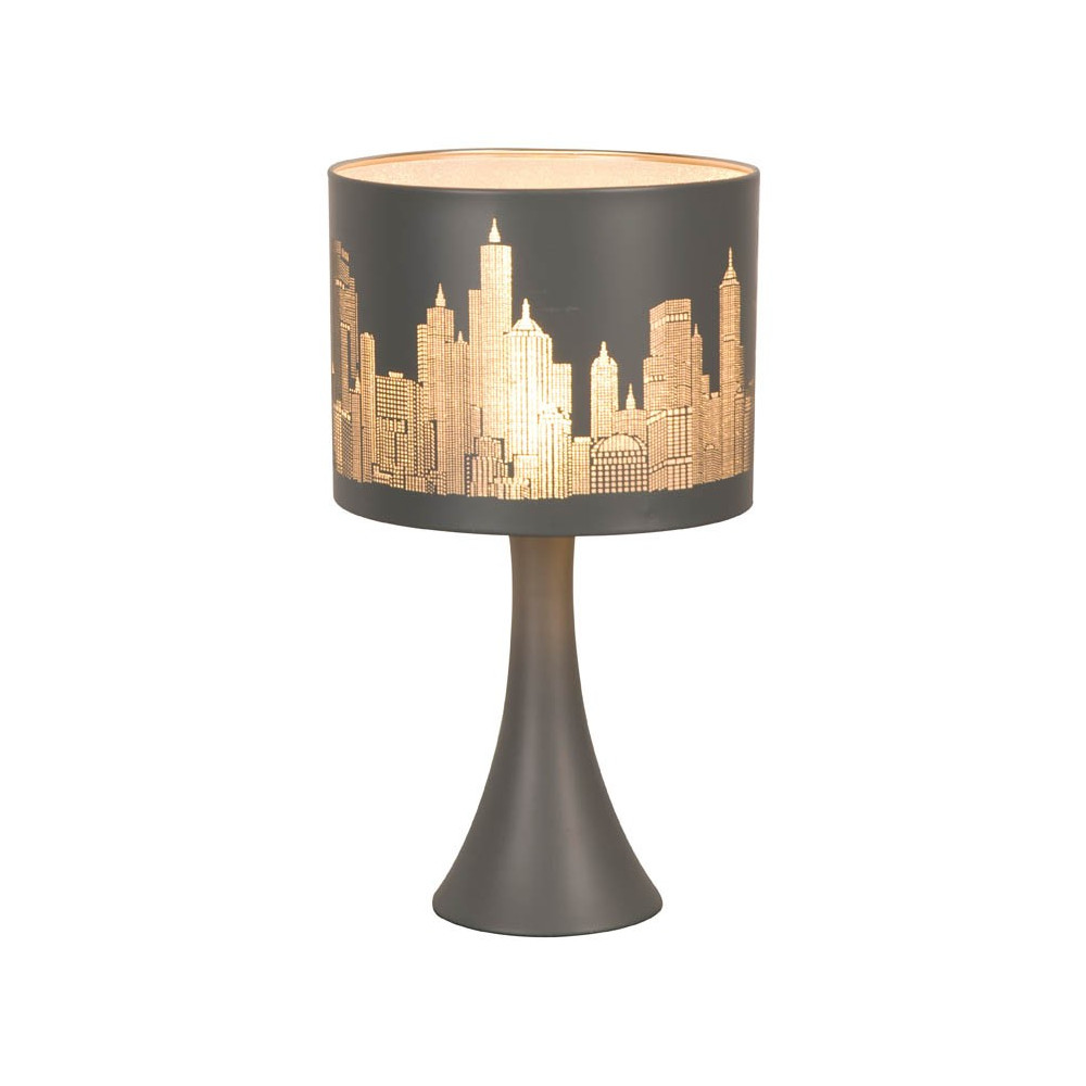 Lampe chevet tactile new york gris mat en vente sur lampe for Lampe de chevet london