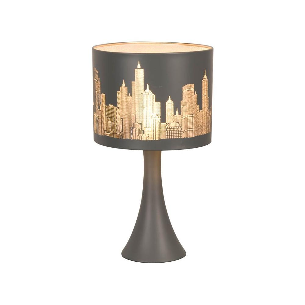 lampe chevet tactile new york gris mat en vente sur lampe avenue. Black Bedroom Furniture Sets. Home Design Ideas