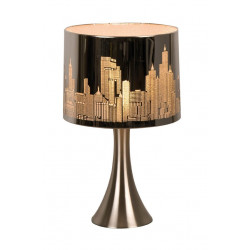 Lampe chevet tactile argentée New York