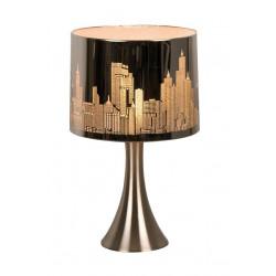 Lampe chevet tactile argentée New York
