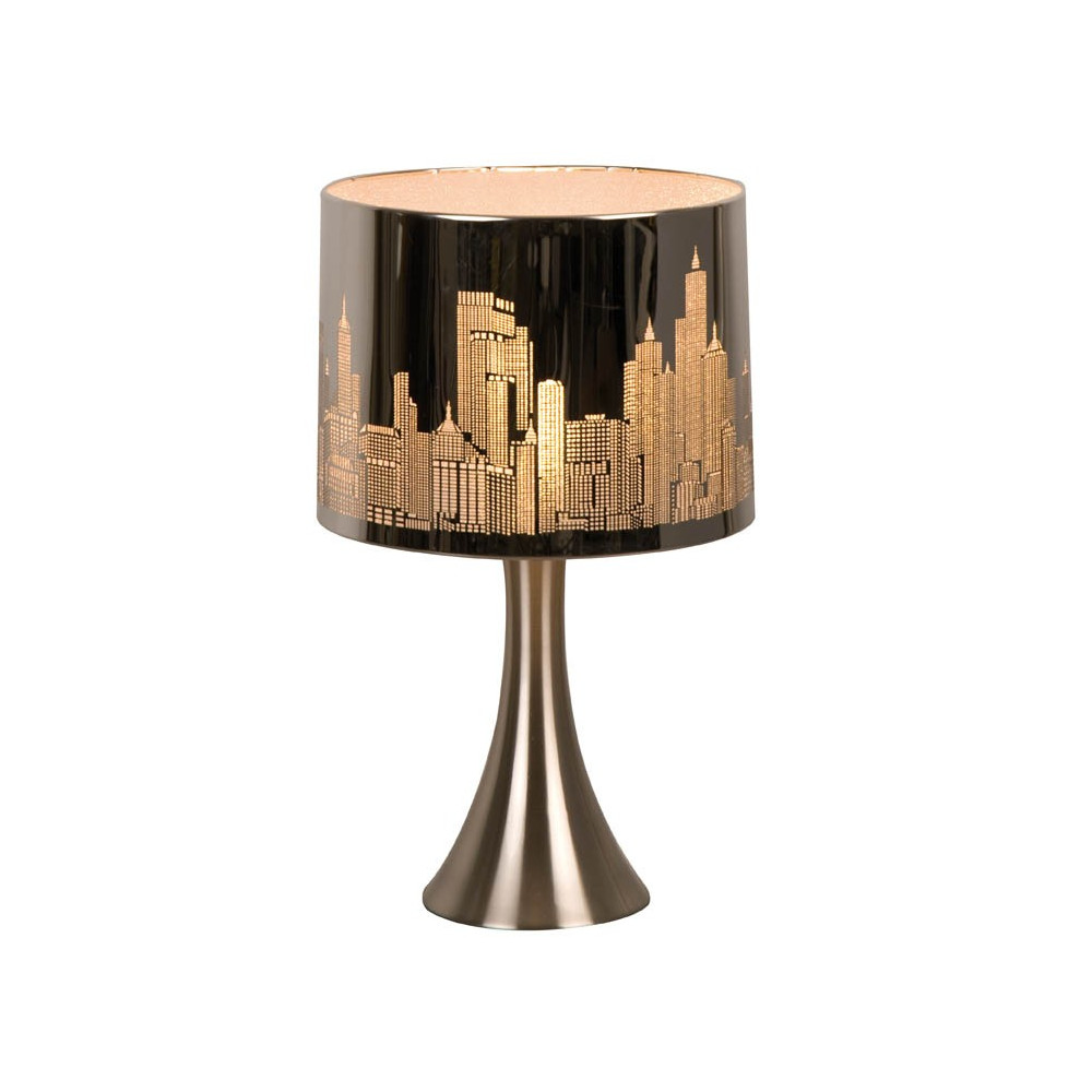 lampe chevet tactile new york argent e sur lampe avenue. Black Bedroom Furniture Sets. Home Design Ideas