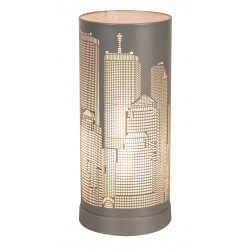 Lampe tactile New York gris mat