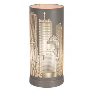Lampe tactile New York gris mat